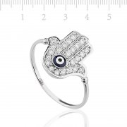 Zircon Stone Silver Womens Ring