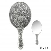 Rose Patterned Hand Mirror