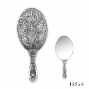 Tulip Patterned Hand Mirror