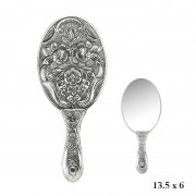 Manolya Patterned Hand Mirror