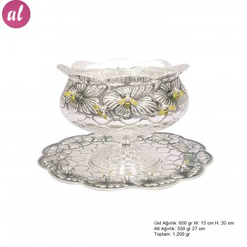 Arı Patterned Silver Boller