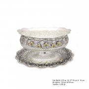 Arı Patterned Oval Silver Boller