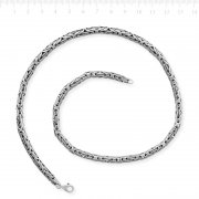 Silver Round Chain King