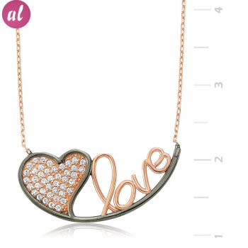 Heart Love Silver Necklace